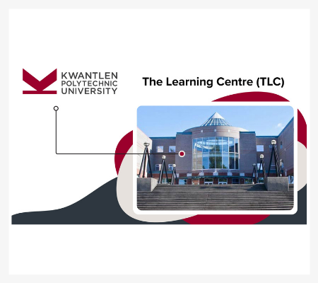 Image of the iconic building at Kwantlen Polytechnic University