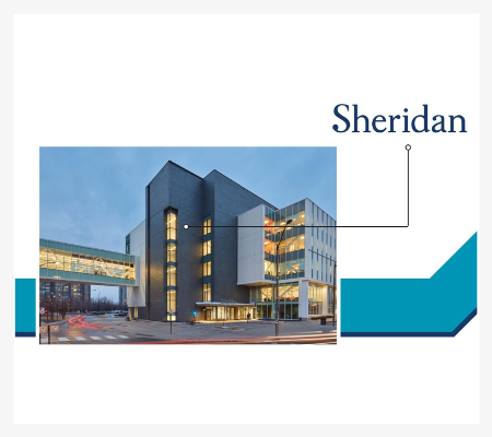 Image of the iconic building at Sheridan College