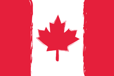 Abstract illustration of the Canadian national flag