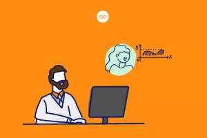 Abstract illustration of a tutor teaching Math online on TutorOcean