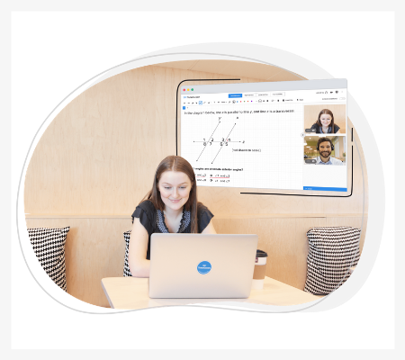 Image of a girl doing online tutoring on the TutorOcean platform